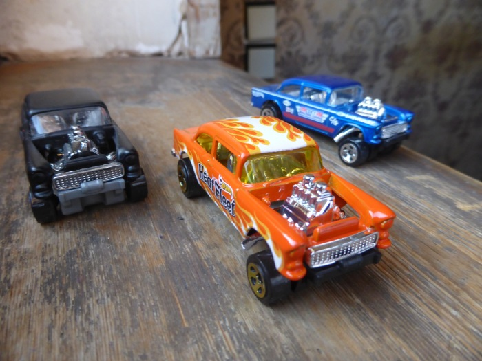 '55 Chevy Bel air gasser HW black orange blue